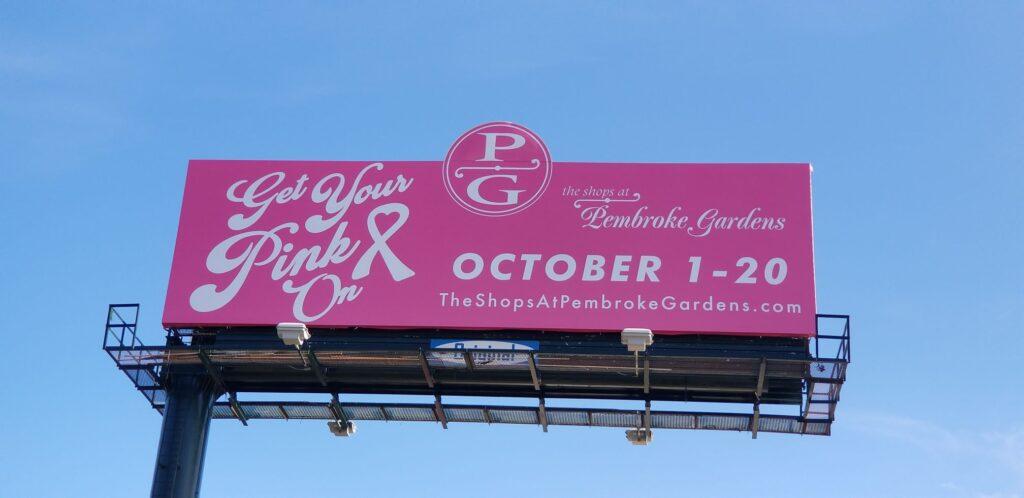 Pembroke Gardens Breast Cancer Billboard