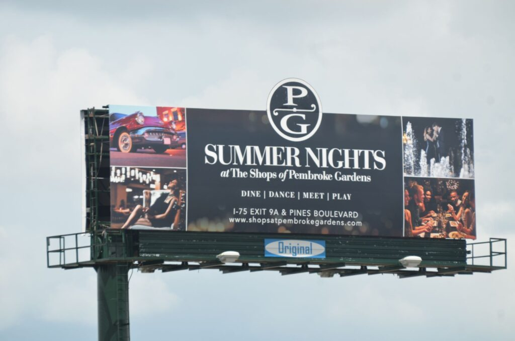 Pembrooke gardens billboard